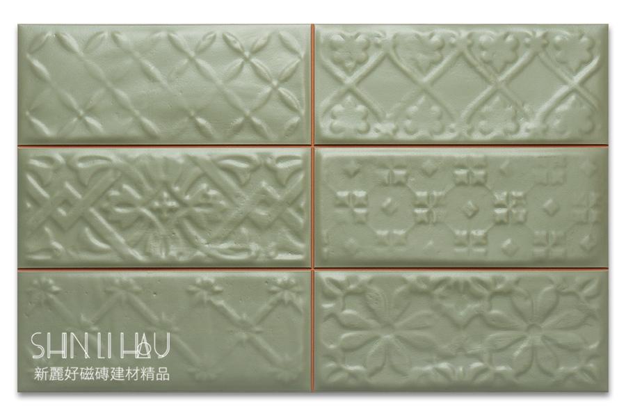 福斯來鄉村風壁磚【每坪3200元】 - 翠欖綠花磚