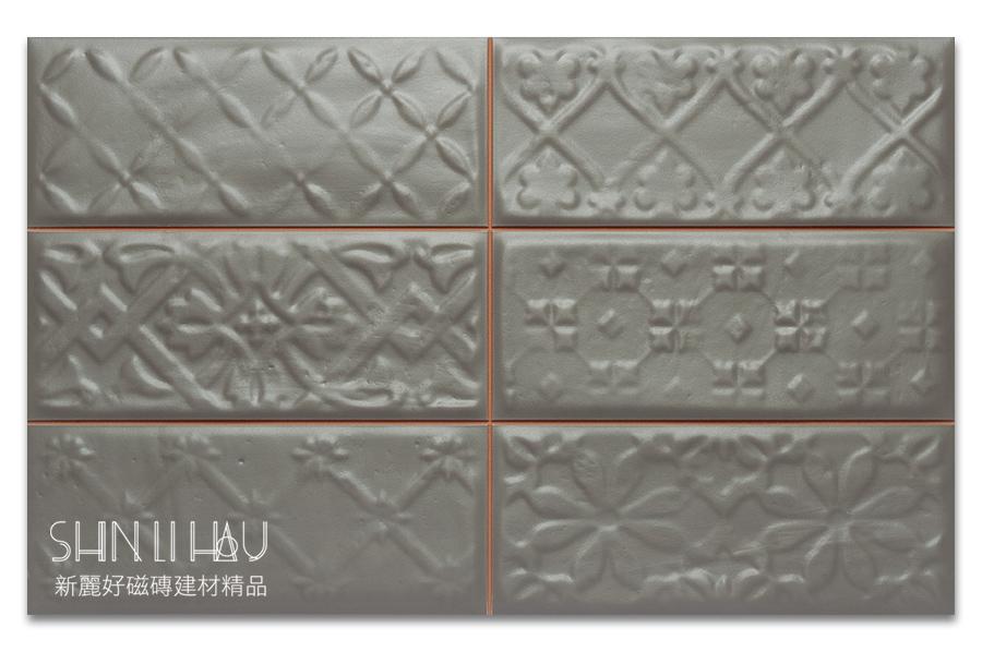 福斯來鄉村風壁磚【每坪3200元】 - 烘培棕花磚
