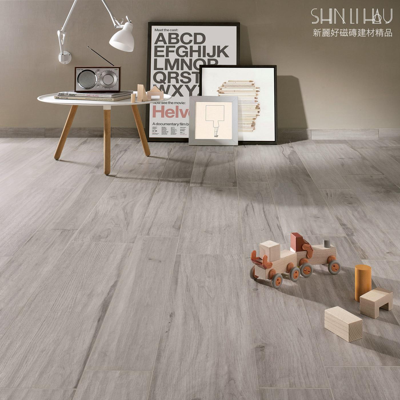 山林雅境-木紋磚模面如絲般的觸感,赤足踩踏亦感覺舒適 - 灰色