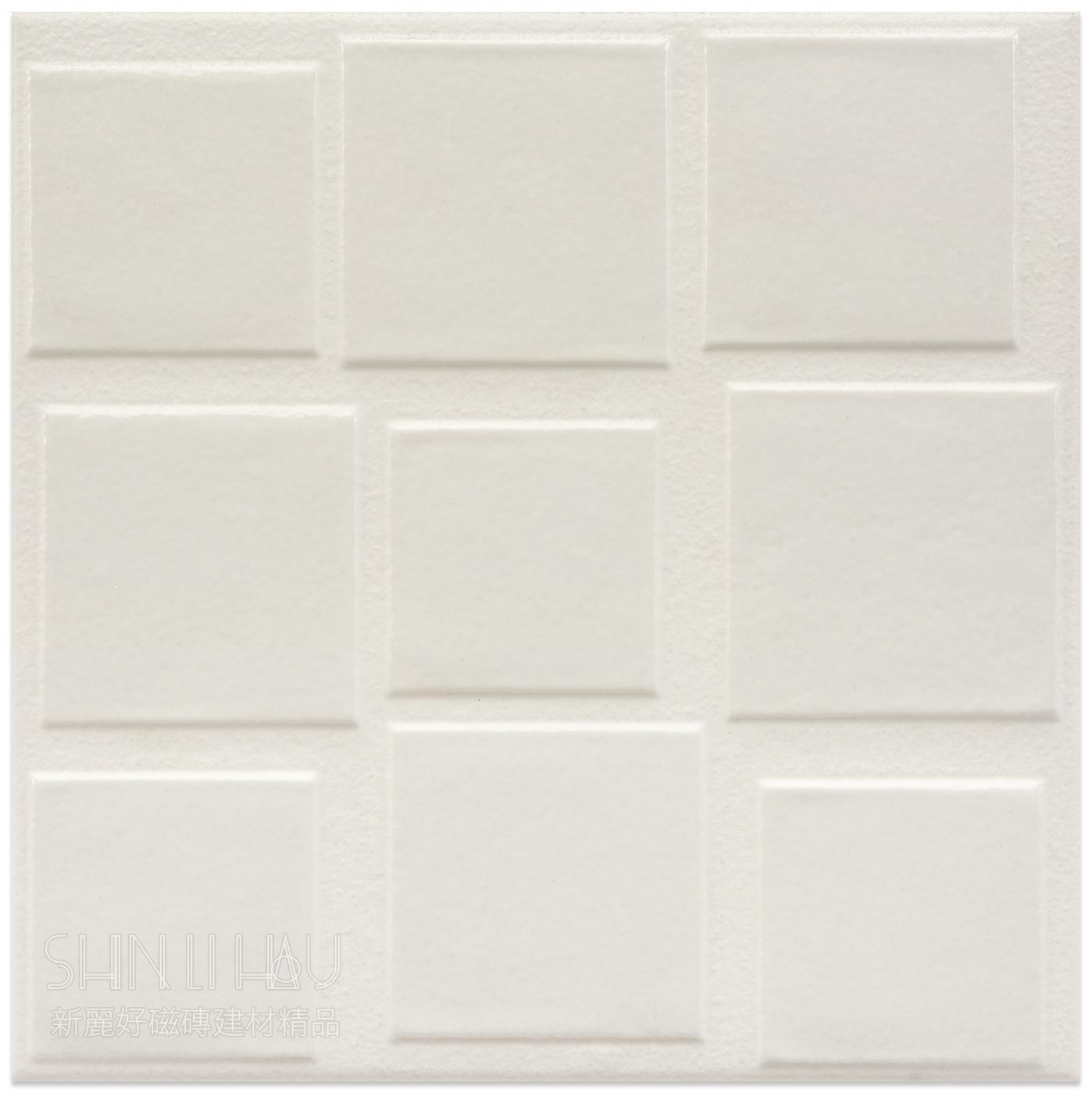 【尋寶盛會-歐洲品牌超強促銷】幾何拼貼-馬賽克型石英復古磚 - 方塊白