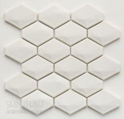 立體菱形 白
