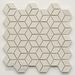 白色板岩面菱形正方體