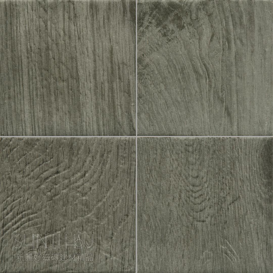 木雅方塊磚 - 木紋灰
