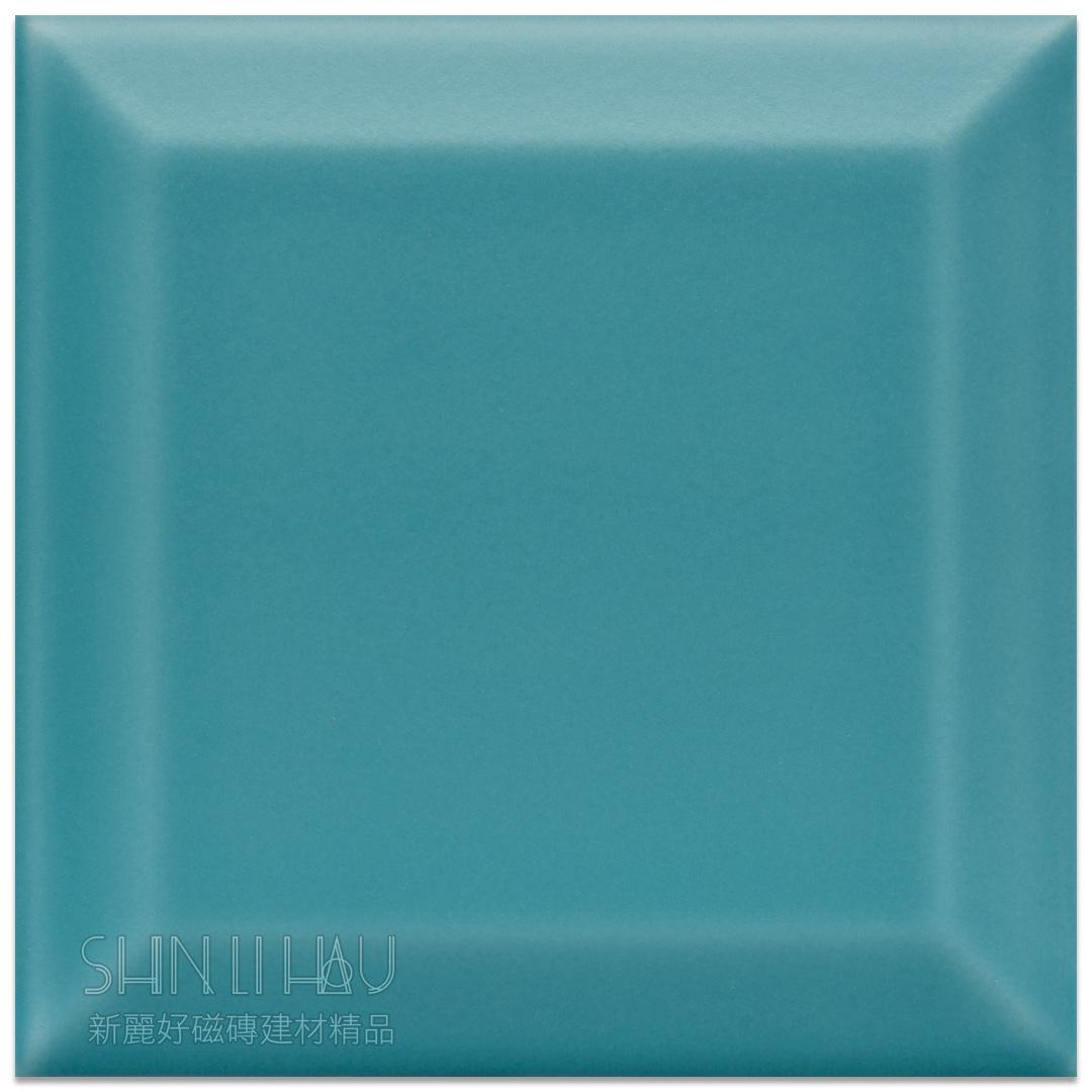 霧面原萃地鐵磚10×10 - 霧地中海藍