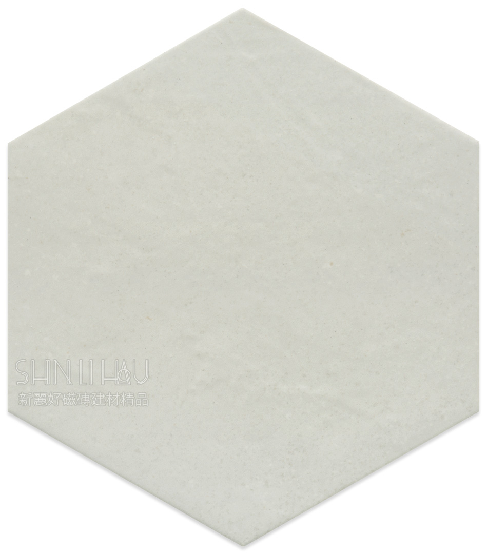 幾何花舞-六角磚 - 白色