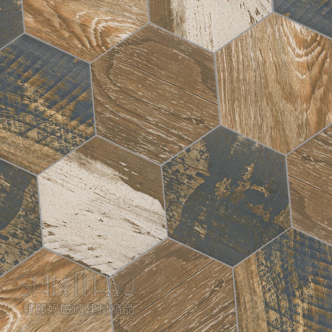 高藝六角磚 - 鏽木
