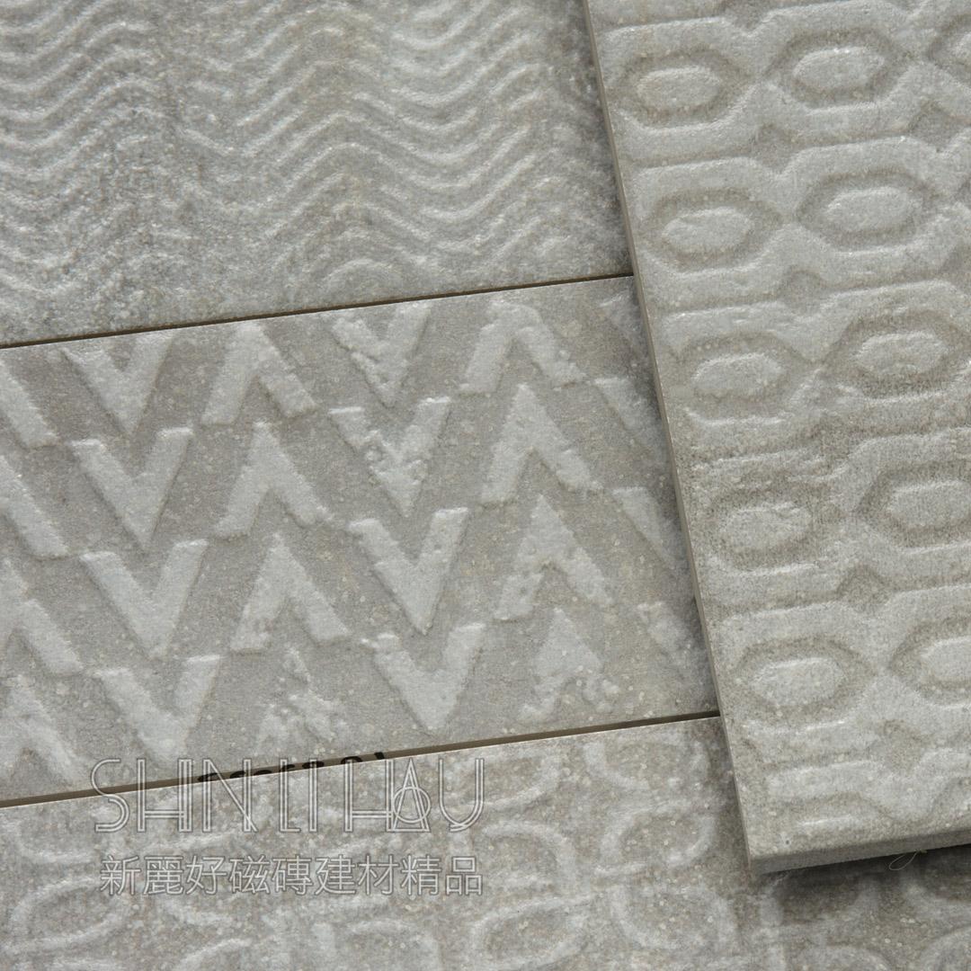 賽爾岩磚 - 灰色花磚