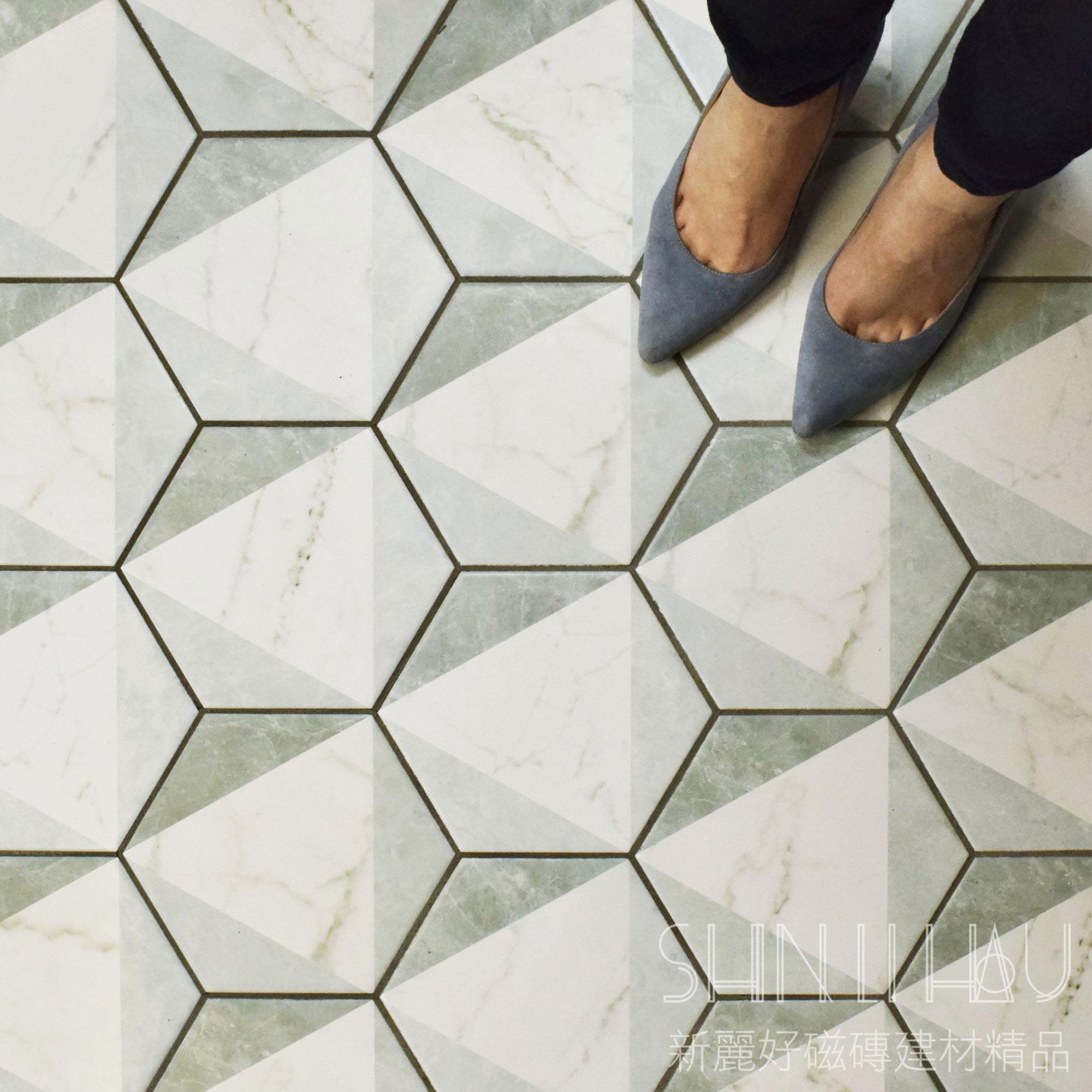 簡藝六角磚 - 卡拉拉幾何花磚