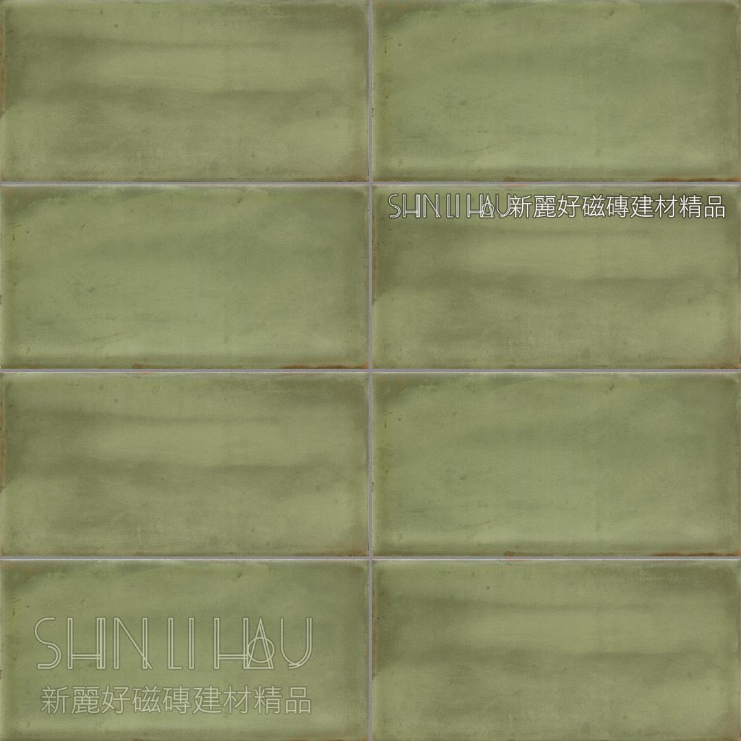 域匯復古磚 - 素磚綠