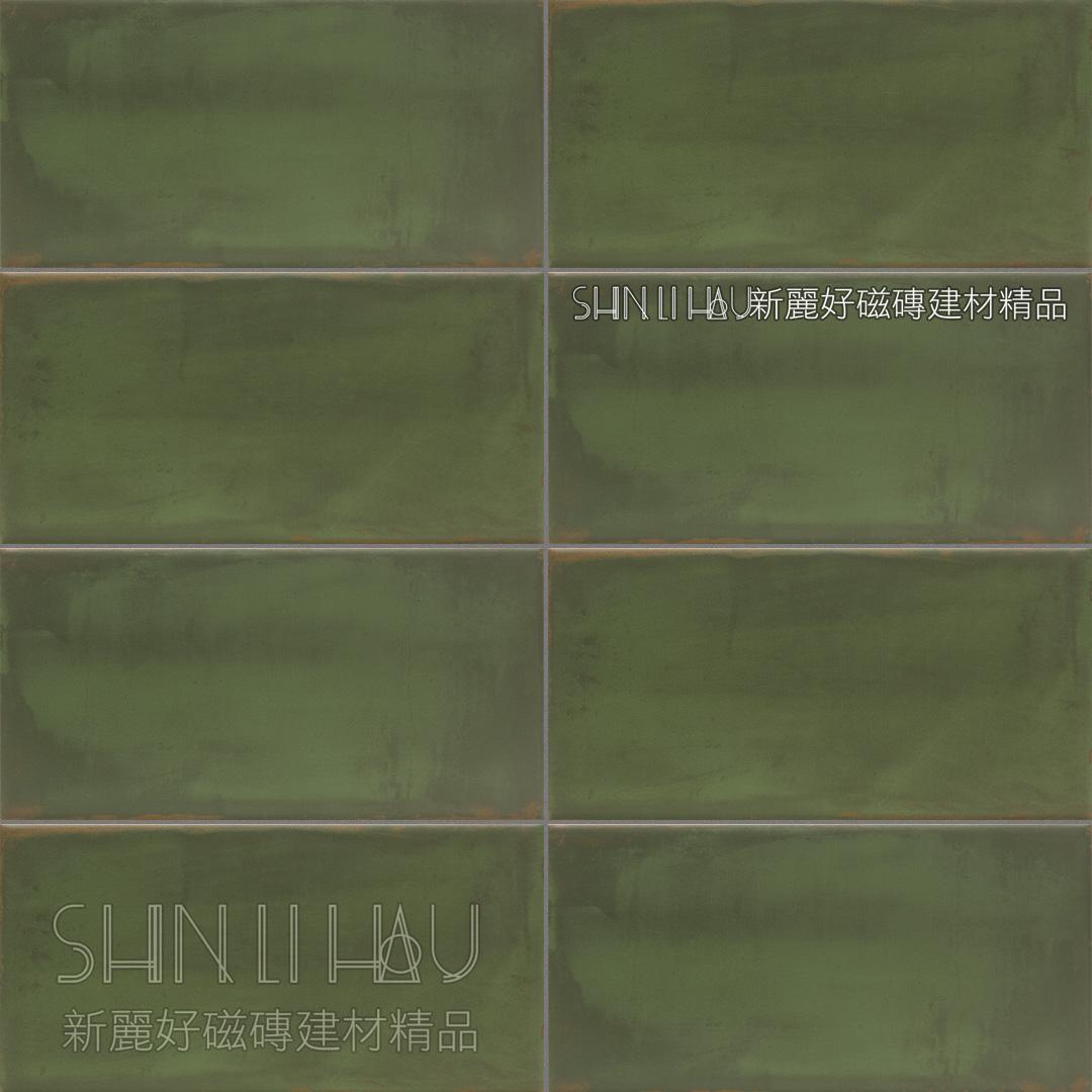 域匯復古磚 - (墨綠色)素磚橄欖綠