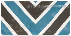 藍黑條紋花磚