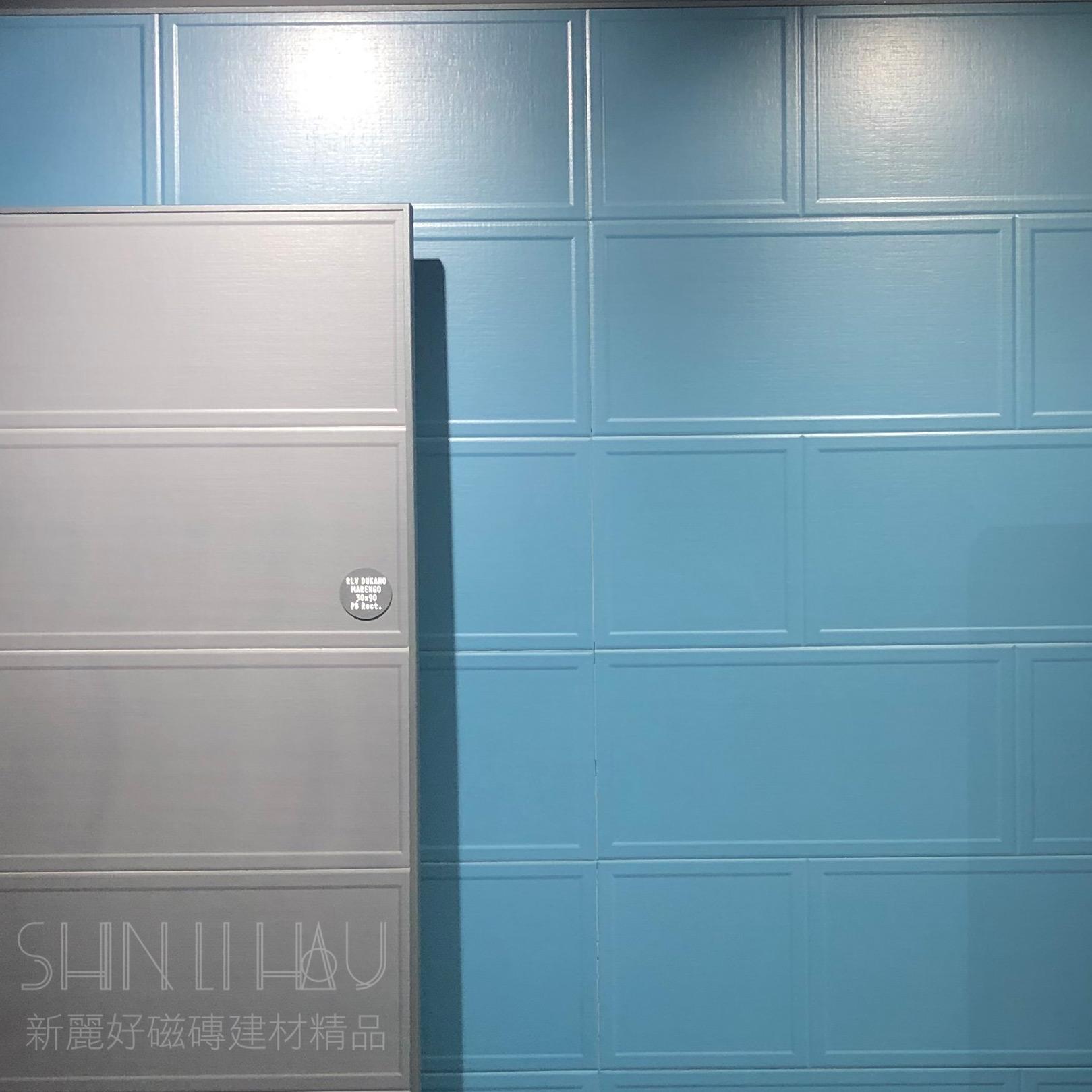 瓷框線板磚 - 藍花