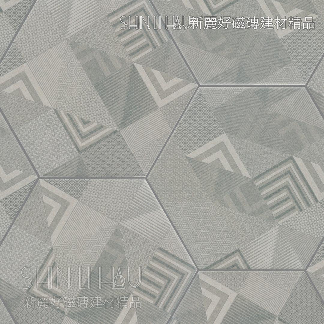 藝寓六角磚 - 寶麗-灰