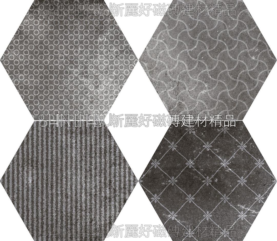 默雅復刻式樣 - 灰花六角(4種變化)