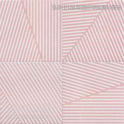 幾何線條粉紅霧花磚