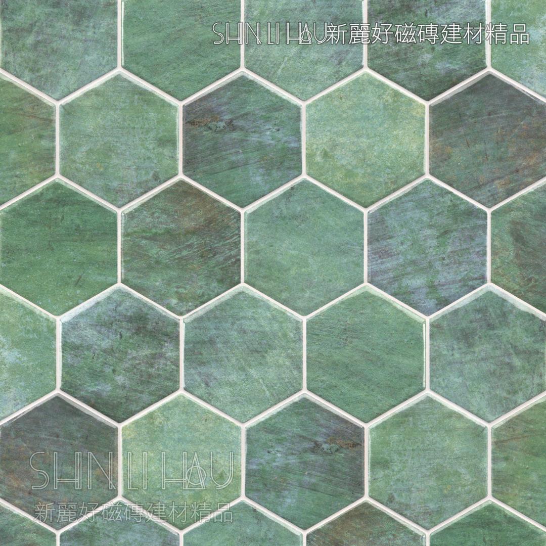 域芬六角系列 - 綠素面