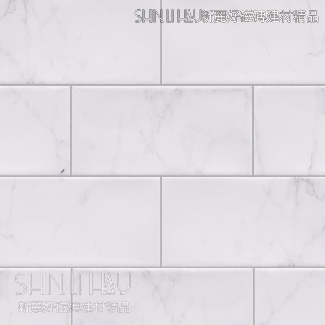 晰雅大理石紋磚 - 白亮