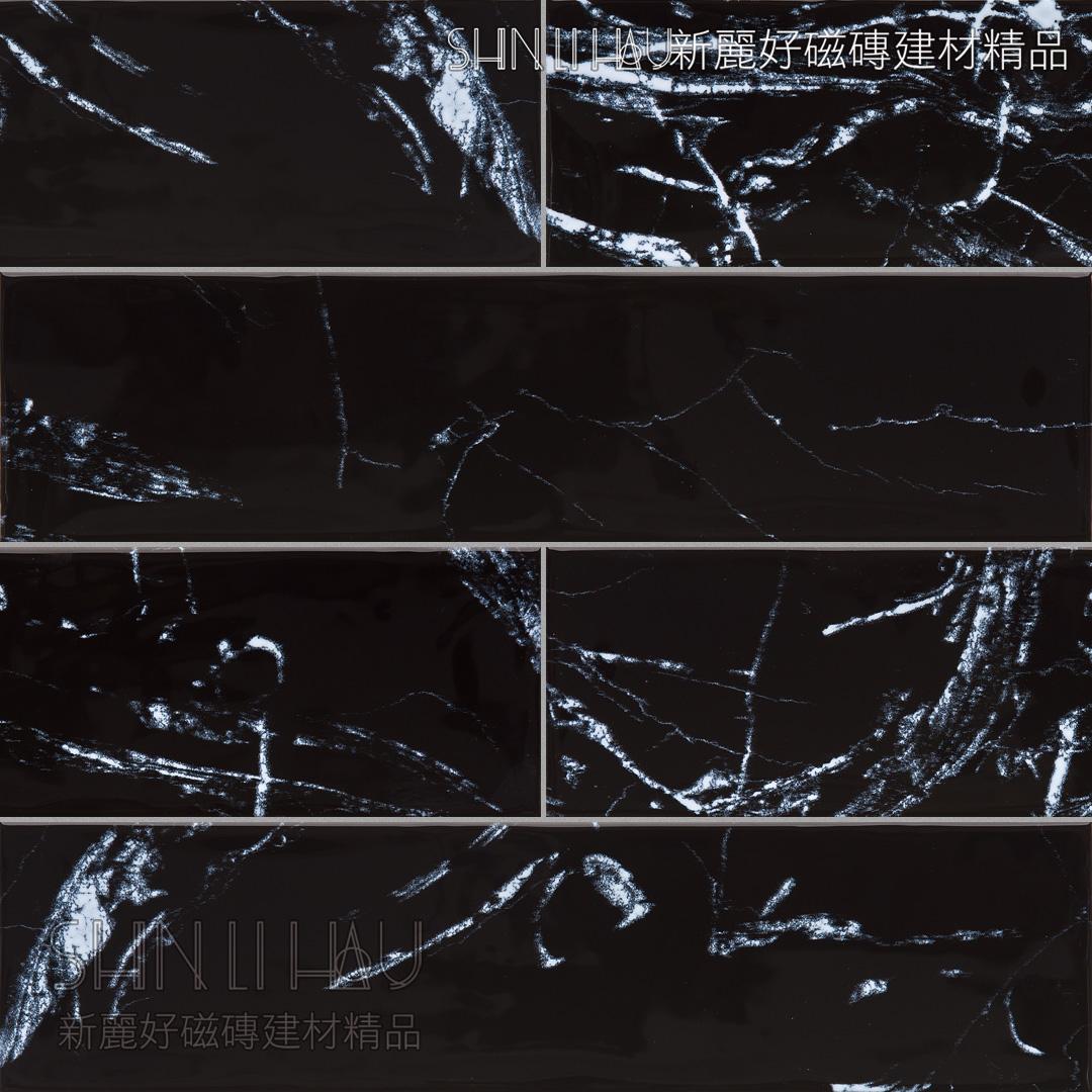 晰雅大理石紋磚 - 黑亮