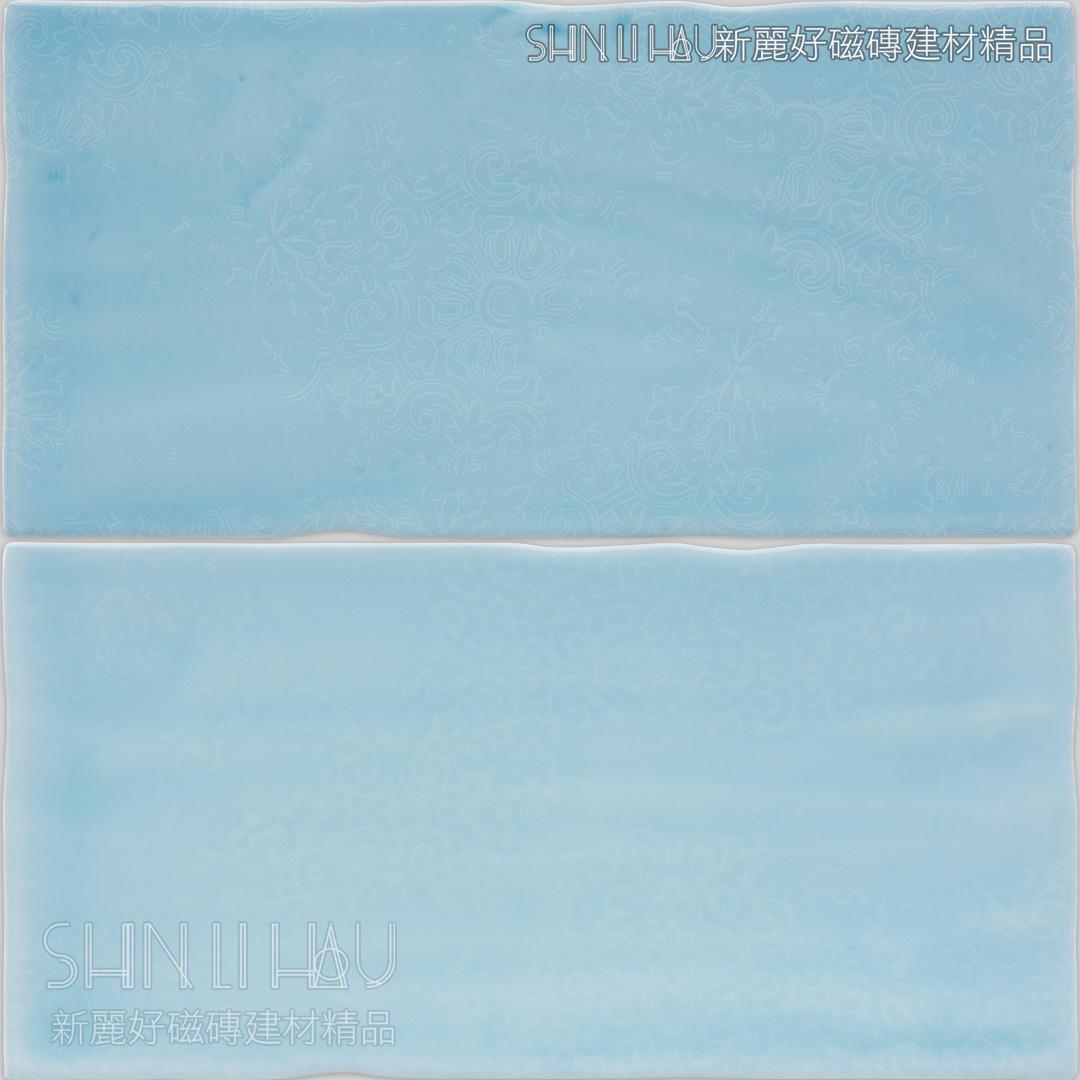 洛雅地鐵磚 - 天空藍花磚