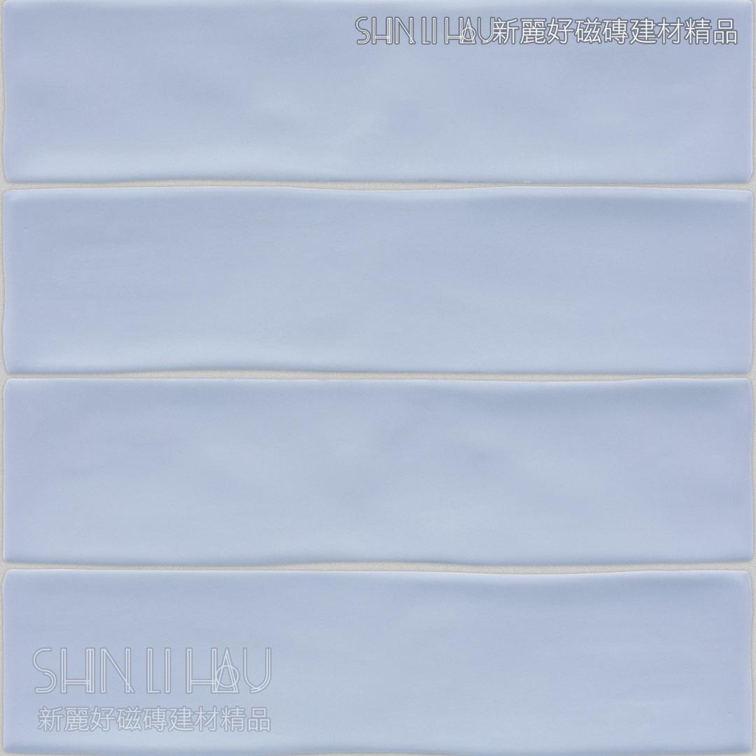 澄雅地鐵磚 - 霧粉藍
