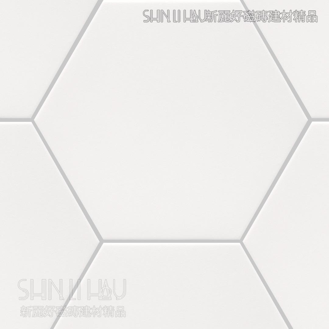 光芬六角 - 白色