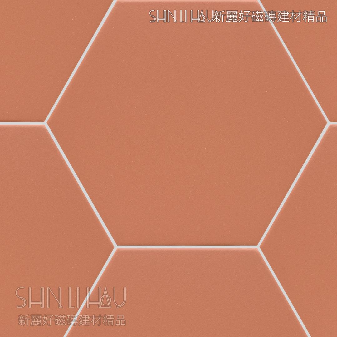 光芬六角 - 紅褐色